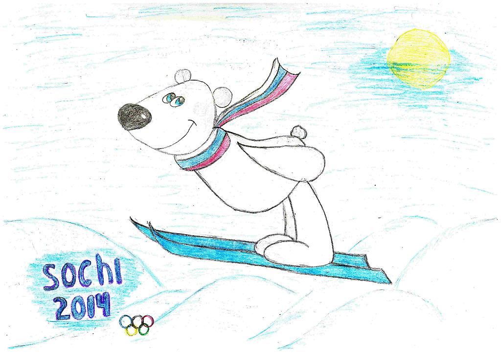 рисунок зимние олимпийские игры