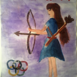 Олимпийская богиня пускает стрелу победы