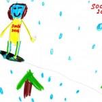 Сноубордист на Олимпийской трассе! Вера 7 лет