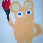 Мишка с факелом