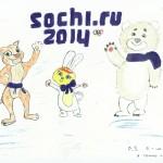 Привет спортсменам сочинской зимней олимпиады